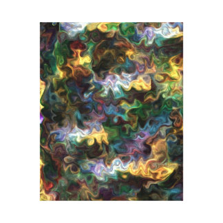 Toile paix abstraite vive colorée 228Y de découverte