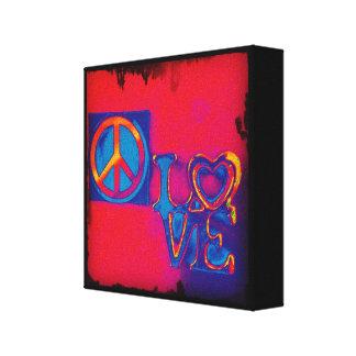 Toile Paix et amour