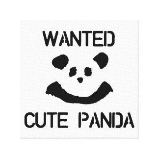 Toile Panda mignon VOULU