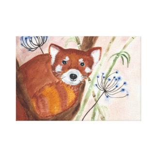Toile Panda rouge