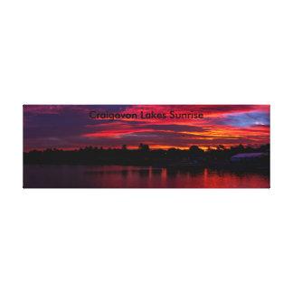 Toile Panorama de lever de soleil