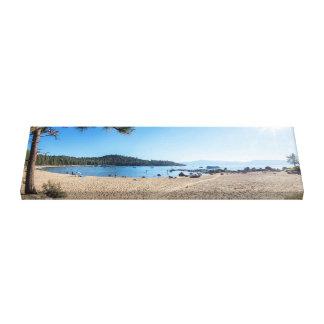 Toile panorama de plage, panorama du lac Tahoe,