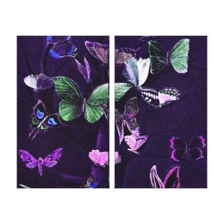 Toile Papillons sur le pourpre