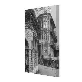 Toile Parc de bassin et gamme de gris d'appartements de