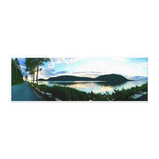 Toile Parc national d'Acadia - coucher du soleil