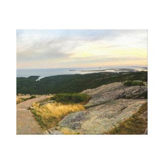 Toile Parc national d'Acadia - coucher du soleil de