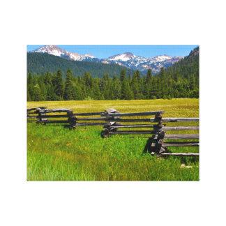 Toile Parc national de Lassen de bâti en Californie