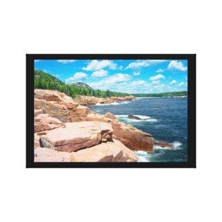 Toile Parc national Maine d'été d'Acadia rocheux de