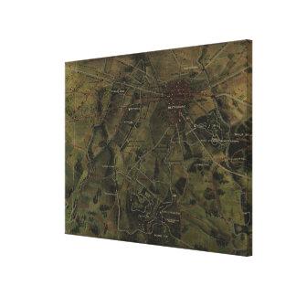 Toile Parc vintage Map (1916) de Gettysburg Pennsylvanie
