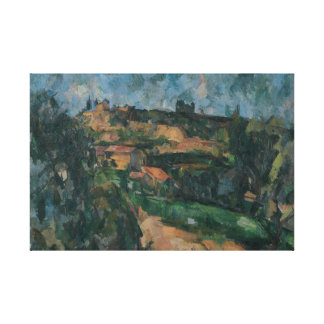 Toile Paul Cezanne - courbure de la route
