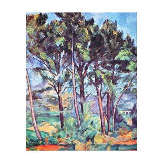 Toile Paul Cezanne - pins et beaux-arts d'aqueduc