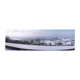 Toile Pays de Herve sous la neige
