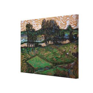 Toile Paysage de Van Gogh avec le pont à travers l'Oise