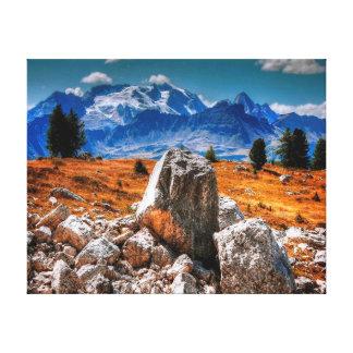 Toile Paysage des montagnes   de la photographie   de