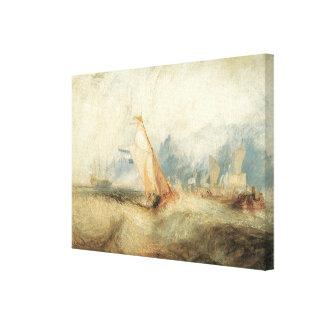 Toile Paysage marin maritime vintage de bateau par
