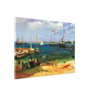 Toile Paysage marin vintage, port de Nassau par