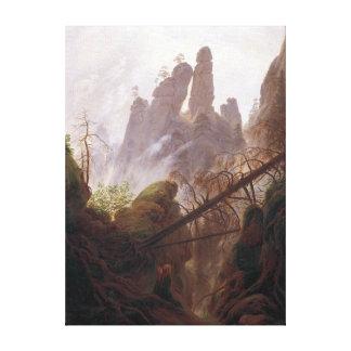 Toile Paysage rocheux de Casper David Friedrich dans