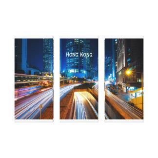 Toile Paysage urbain de Hong Kong la nuit