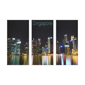 Toile Paysage urbain de Singapour la nuit