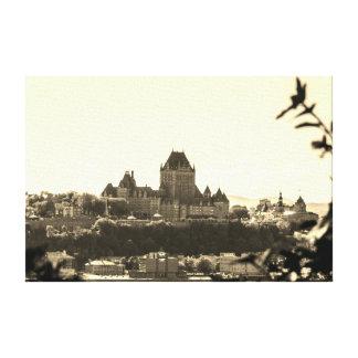 Toile Paysage urbain du Québec de sépia