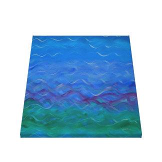 Toile Peinture acrylique sereine de l'eau