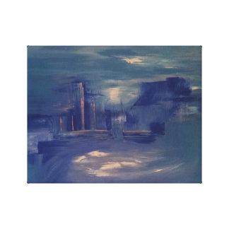 Toile Peinture de paysage urbain