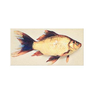 Toile Peinture de poisson rouge