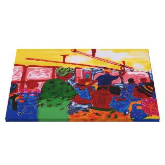 Toile Peinture jamaïcaine d'ordinateur de cavaliers