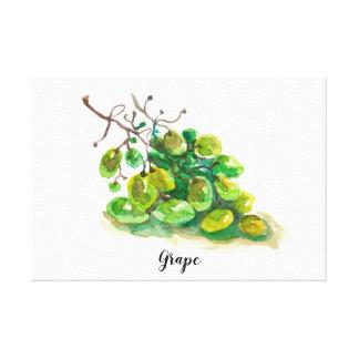 Toile Peinture pour aquarelle de raisin