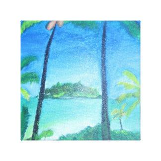 Toile Peinture tropicale d'île