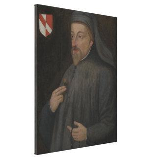 Toile Peinture vintage de portrait de Geoffrey Chaucer