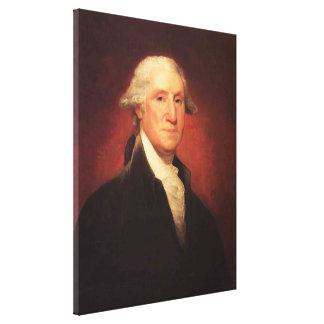 Toile Peinture vintage de portrait de George Washington