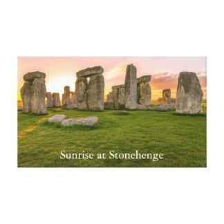 Toile Personlized Stonehenge légendaire au lever de
