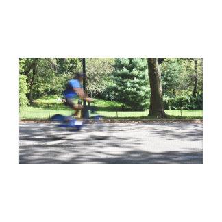 Toile Photo de bicyclette de cycliste de Central Park de