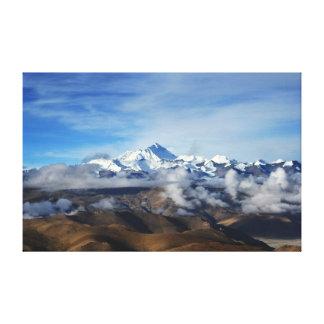 Toile Photo de voyage du Thibet Qomolangma Mt Everest