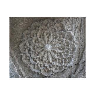 Toile Photo en pierre découpée par mandala simple