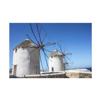Toile Photos de Mykonos : Moulins à vent