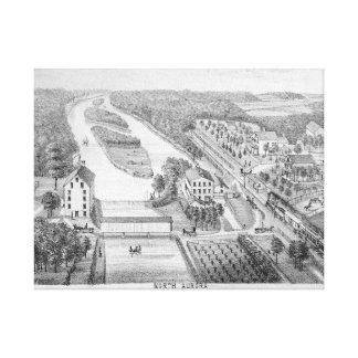 Toile Pierre du nord Litho de RIVIÈRE de RENARD de