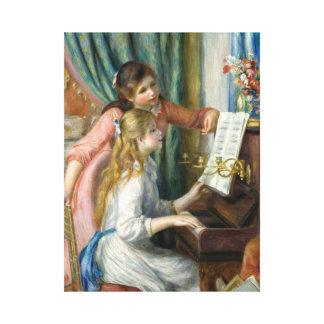 Toile Pierre Renoir - jeunes filles au piano