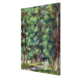 Toile Pierre un chemin de Renoir   dans un bois