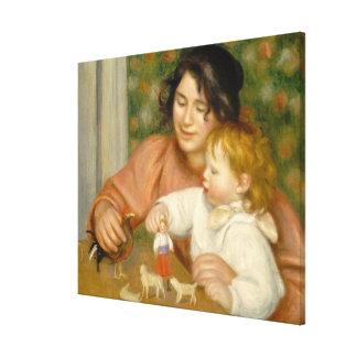 Toile Pierre un enfant de Renoir | avec des jouets