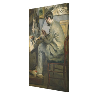 Toile Pierre un Renoir | Frederic Bazille à son chevalet