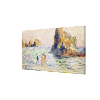 Toile Pierre une baie de Renoir | Moulin Huet, Guernesey