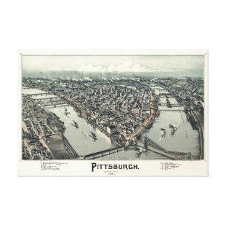Toile Pittsburgh, Pennsylvanie, 1902 par Thaddeus Fowler