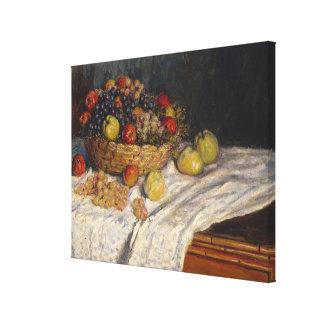 Toile Pommes et raisins