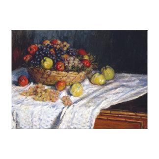 Toile Pommes et raisins de Claude Monet