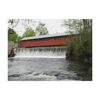 Toile Pont couvert de moulin à papier, Vermont