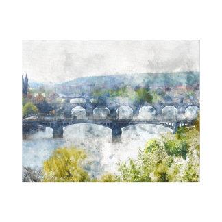 Toile Ponts dans la République Tchèque de Prague