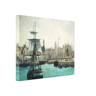 Toile Port à Calais par Manet, art vintage