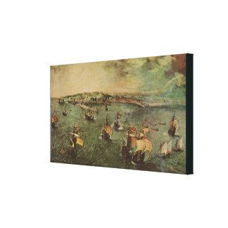 Toile Port de Naples par Pieter Bruegel l'aîné